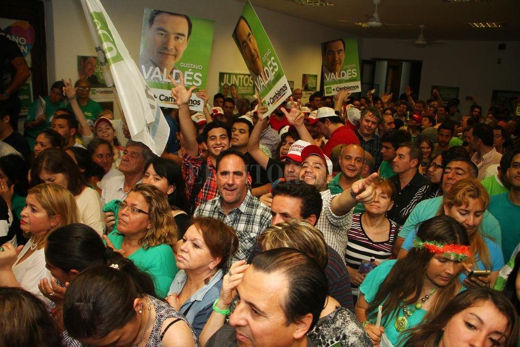 El candidato a gobernador de Corrientes por la alianza oficialista ECO+Cambiemos, Gustavo Valdés, se declaró ganador de la elección. <strong>Foto:</strong> Télam