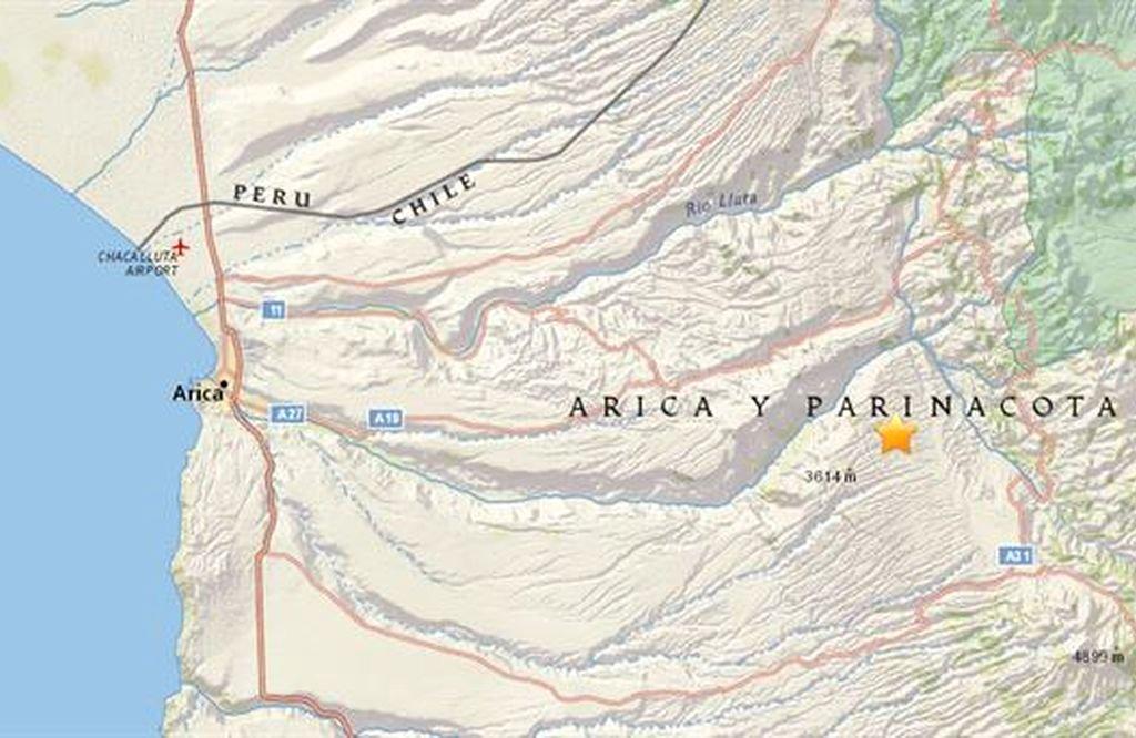 Localización del sismo.  <strong>Foto:</strong> USGS