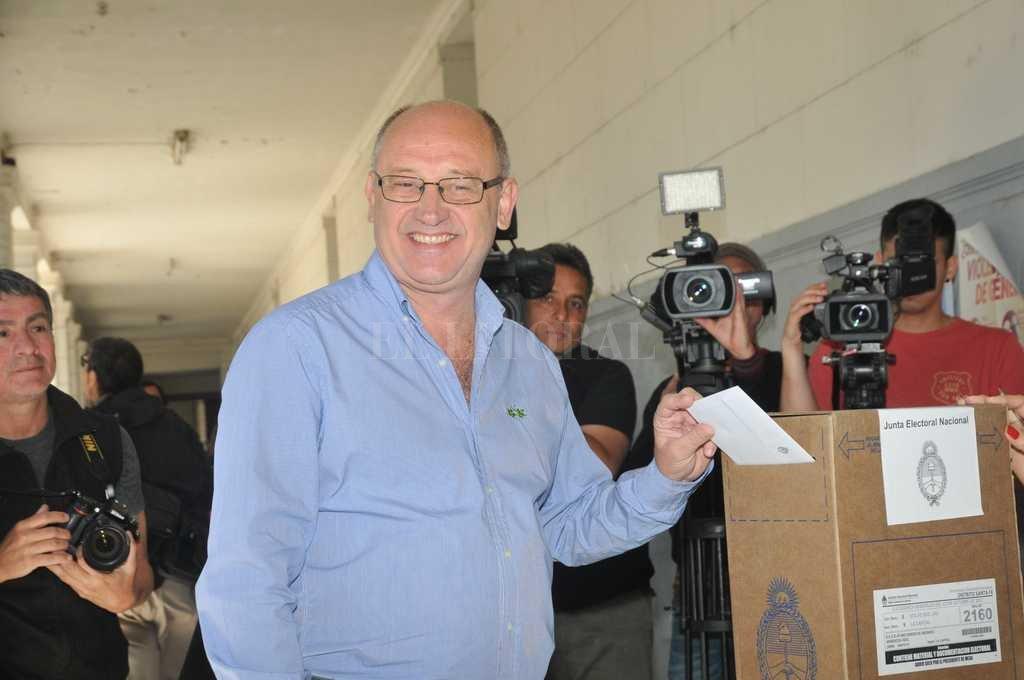 El más votado. Albor Cantard se impuso en casi todas las seccionales de la ciudad de Santa Fe.  <strong>Foto:</strong> Flavio Raina