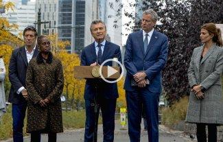 """Macri: """"Esto nos tiene que unir más en nuestra convicción por la paz"""""""