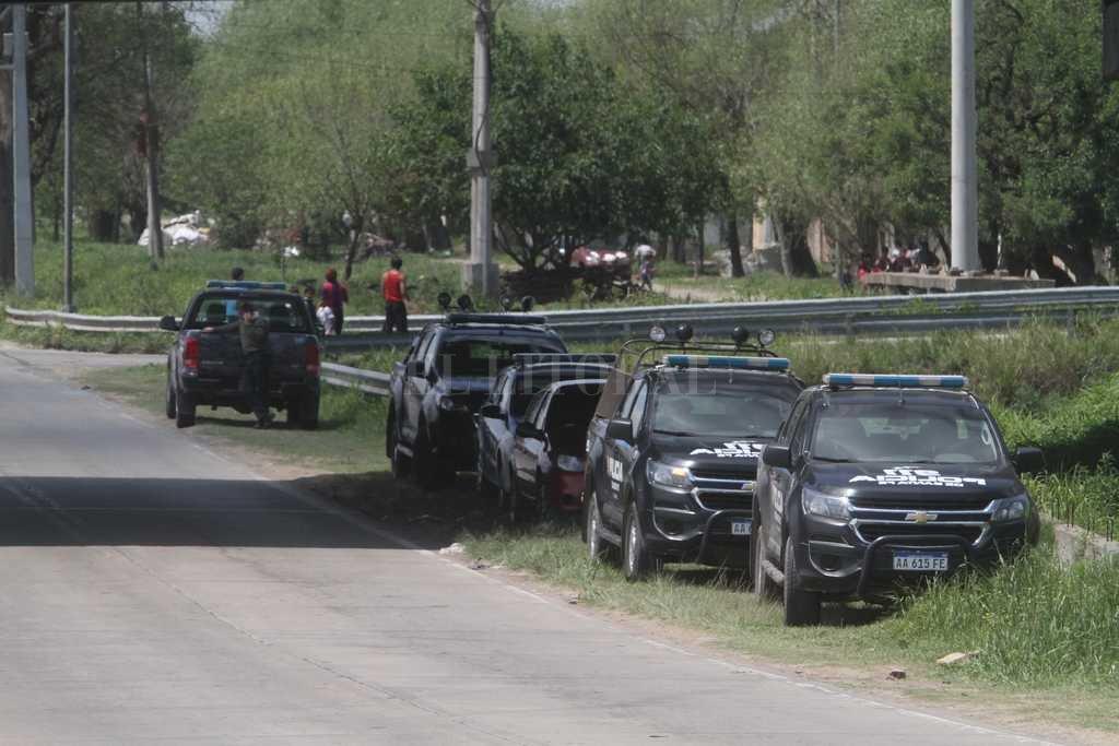 Al día siguiente de sucedido el hecho, se desplegó un operativo de la policía en el lugar donde encontraron a la víctima Crédito: Mauricio Garín