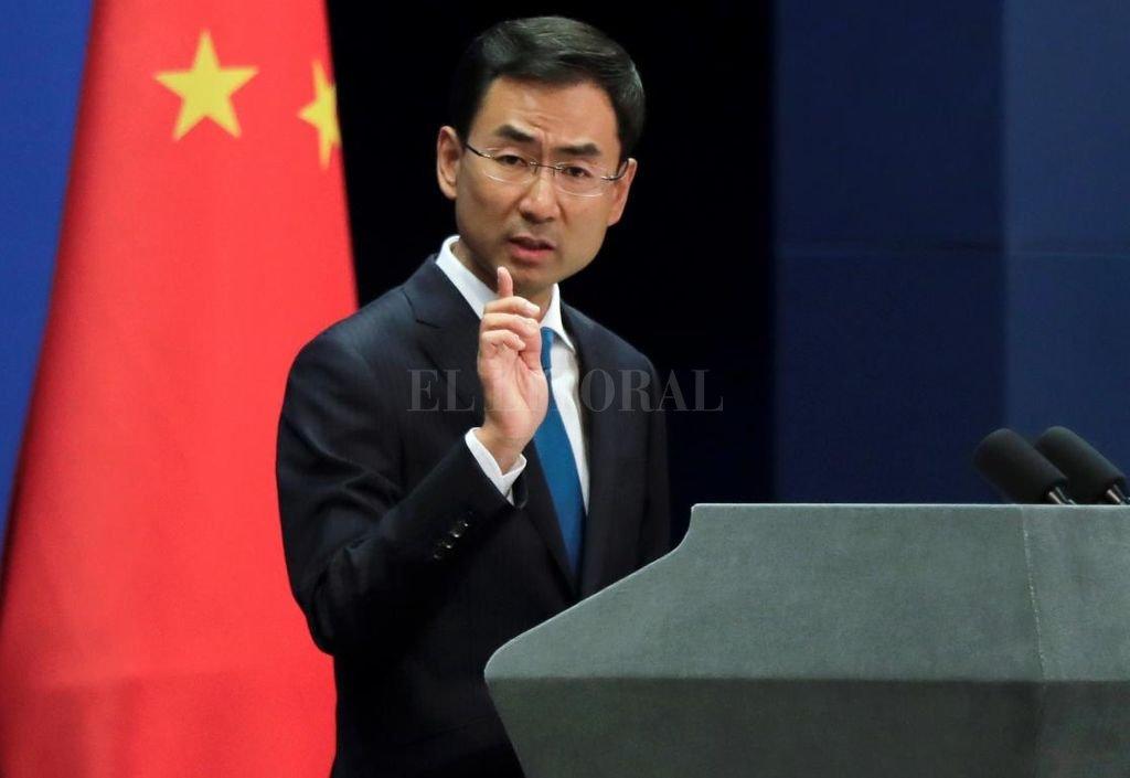 Ministro de Exterior chino, Geng Shuang.  <strong>Foto:</strong> Internet