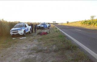 Motociclista muerto al costado  de la Circunvalación Oeste