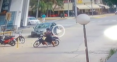 Video: Así se roban una moto en plena Recoleta