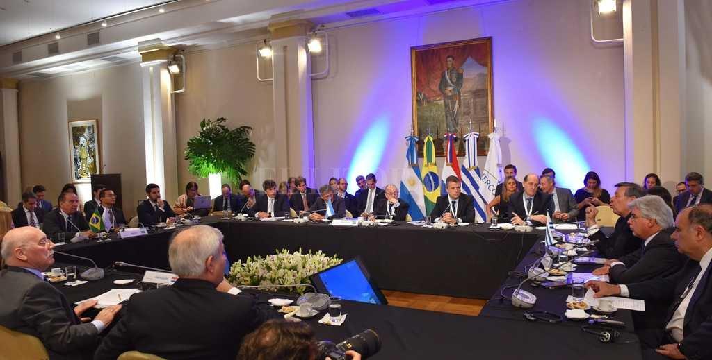 En En el marco de la Cumbre Ministerial de la OMC, se realizó una reunión de trabajo en torno a las negociaciones para un acuerdo MERCOSUR-UE. Crédito: Télam