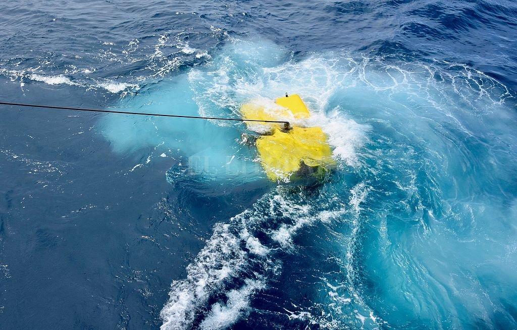 Uno de los sumergibles utilizados para investigar los punto hallados a grandes profundidades. Crédito: EFE