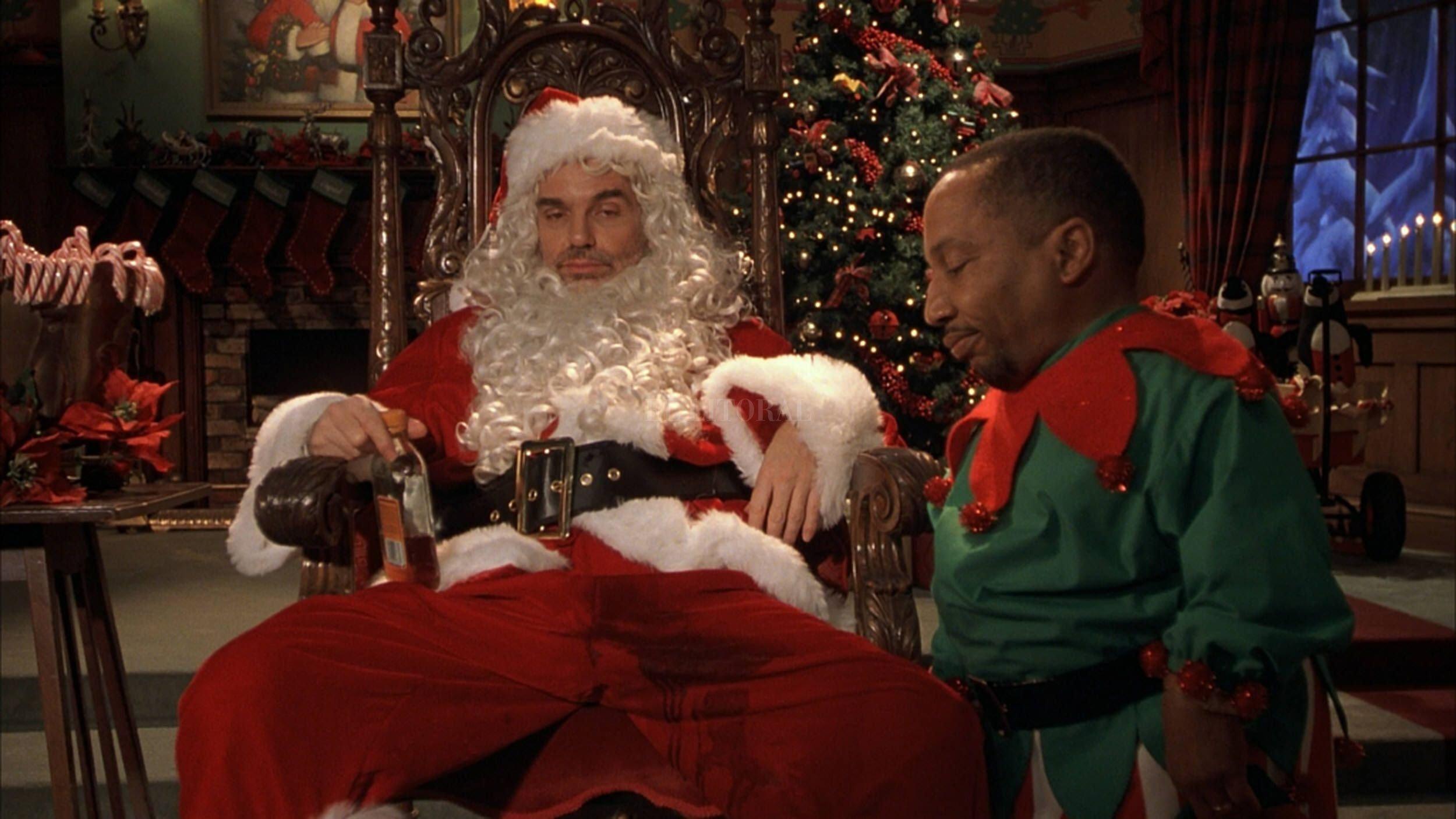 """Billy Bob Thornton encarna a un Papá Noel poco convencional en """"Bad Santa"""". Foto: Gentileza Dimension Films"""