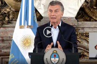 """Macri: """"Demostramos que la democracia funciona en Argentina"""""""