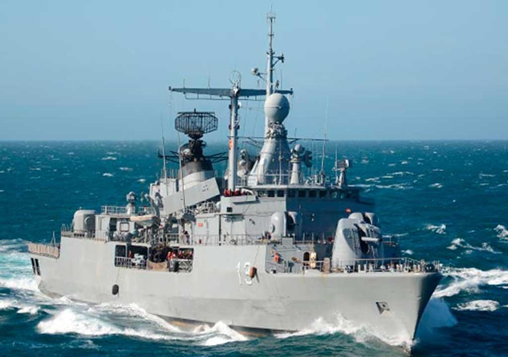 El ARA Sarandi es uno de los buques afectados al operativo <strong>Foto:</strong> Twitter Armada Argentina