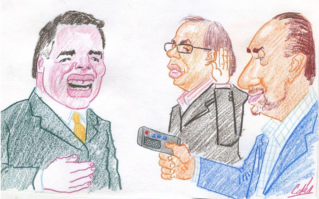 Nicolás Dujovne, Omar Perotti y Gonzalo Saglione. <strong>Foto:</strong> Ilustración de Lucas Cejas