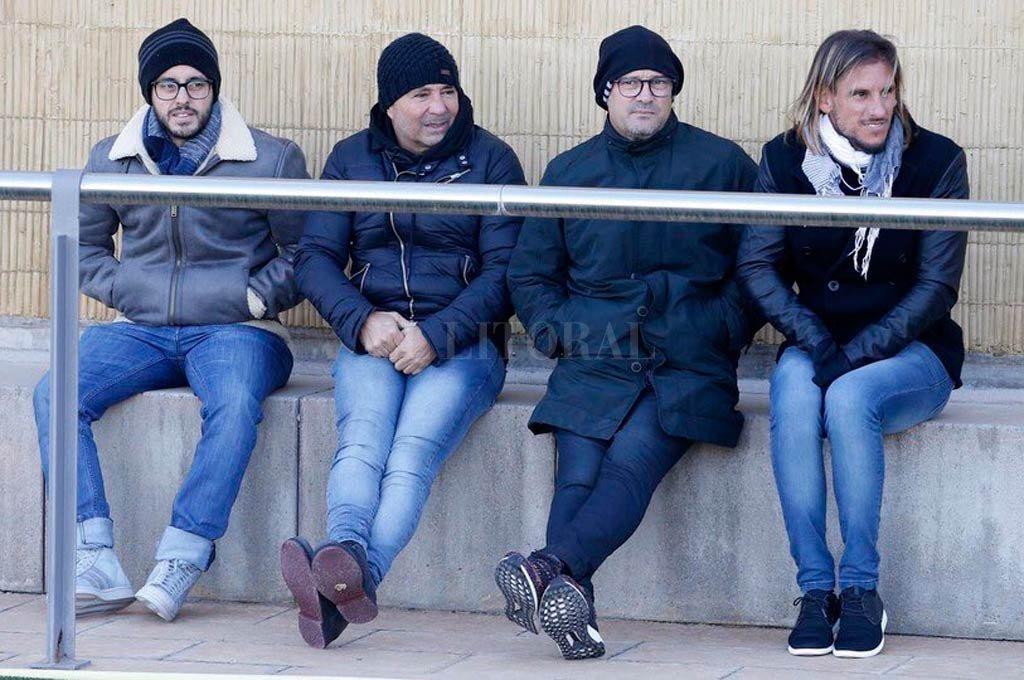 Jorge Sampaoli se reúne con Javier Mascherano