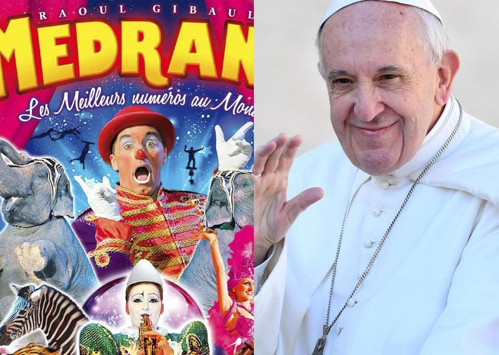 Papa Francisco invita a personas sin techo, refugiados y presos al circo
