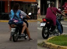 Motos con patentes adulteradas -
