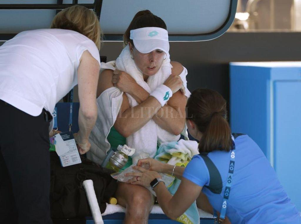 El sofocante Abierto de Australia: una jugadora estuvo al borde del colapso pero no se aplicó la polémica regla de