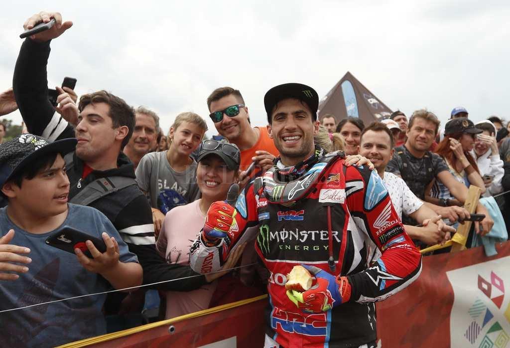 El Argentino Kevin Benavídez, que este sábado ganó la última etapa y terminó 2° en la general. EFE