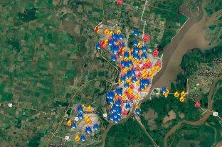 Mirá el mapa de los quemacoches en Santa Fe