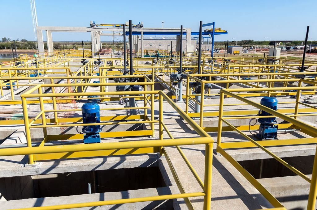 Instalaciones. La toma del Acueducto Desvío Arijón, que se provee de agua del río Coronda. Crédito: Gentileza Gobierno de la provincia