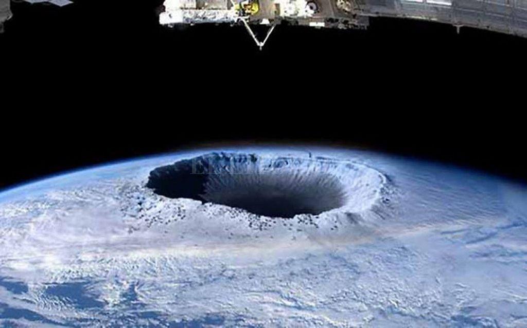 Vista del agujero de la capa de ozono sobre la Antártida.  Crédito: Archivo El Litoral