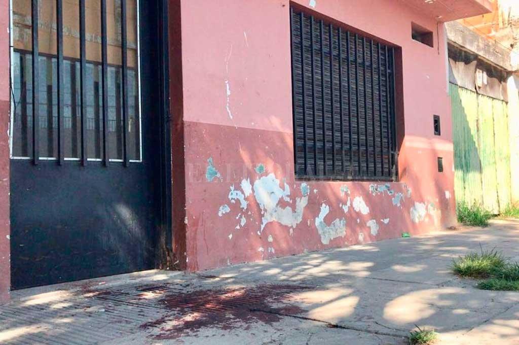 El lugar donde se produjo el cruento hecho <strong>Foto:</strong> Marcelo Manera