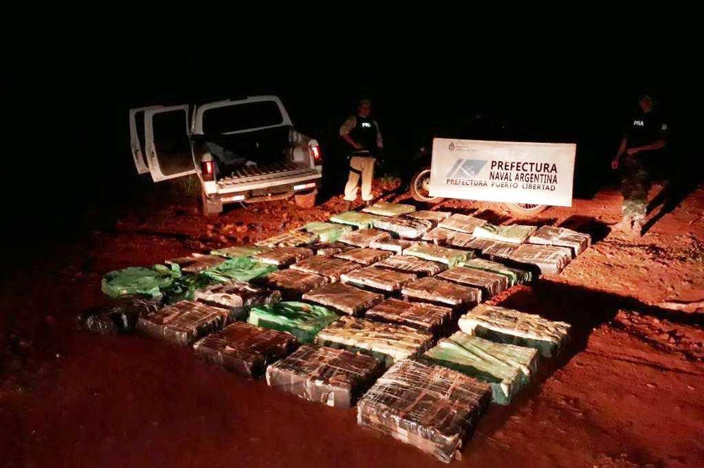 Prefectura secuestró una tonelada y media de marihuana en Misiones y Corrientes durante los feriados de Carnaval  <strong>Foto:</strong> Télam