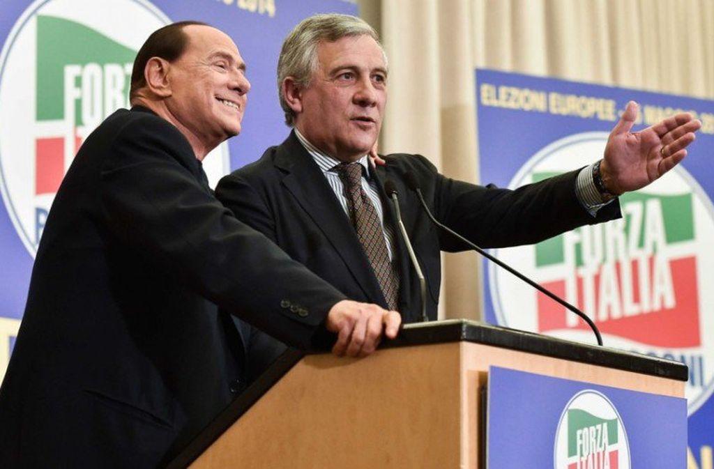 Crédito: Silvio Berlusconi y el presidente del Parlamento Europeo, Antonio Tajani.