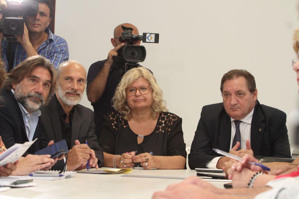 Balagué reconoció que la temática de la docente asesinada fue el primer tema que se trató en la reunión de paritarias. <strong>Foto:</strong> Mauricio Garín
