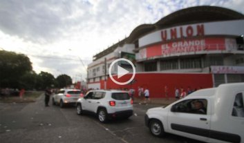 Así llegaban Unión y Colón al estadio