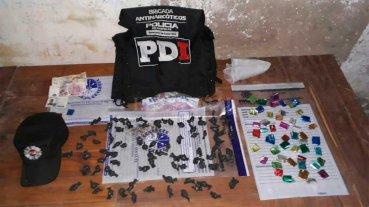 PDI detuvo a dos personas y secuestró droga en la ciudad de Santa Fe