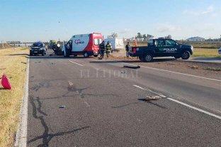 Falleció un hombre tras un vuelco en la autopista Santa Fe - Rosario