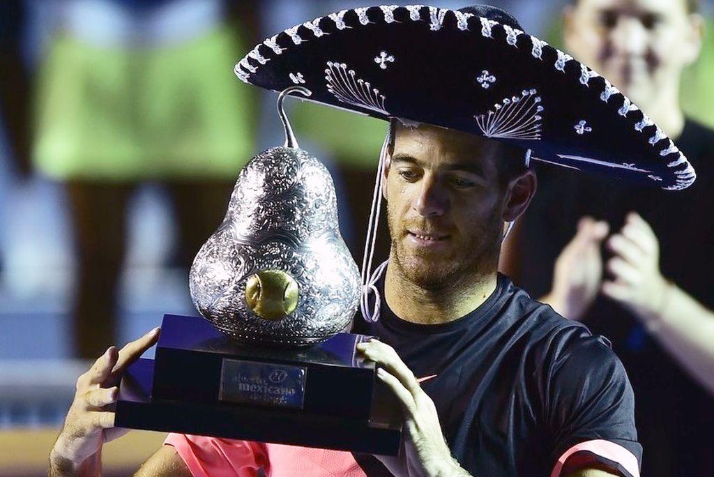 Delpo ganó el torneo de Acapulco, en México, en la madrugada del domingo. Olé