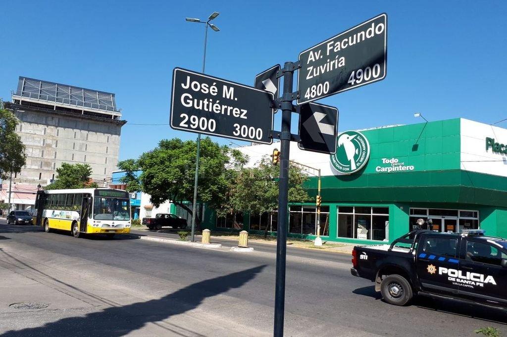 El hecho ocurrió en cercanías de Facundo Zuviría y Gutiérrez. El caso es idéntico al de Marianela Brondino. Crédito: Danilo Chiapello