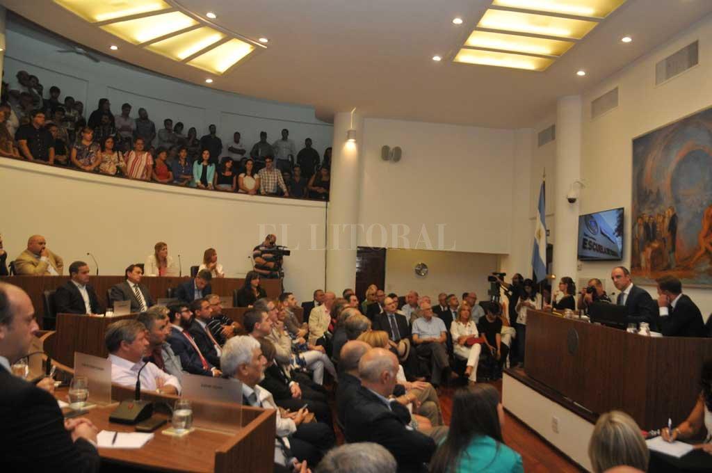 La sesión se realizó una vez que quedó inaugurado el Período Ordinario <strong>Foto:</strong> Flavio Raina