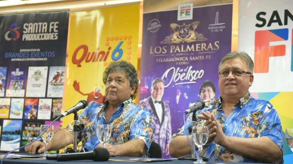 """Rubén """"Cacho"""" Deicas y Marcos Camino brindaron detalles del espectáculo que se realizará el fin de semana. Crédito: Gentileza producción"""