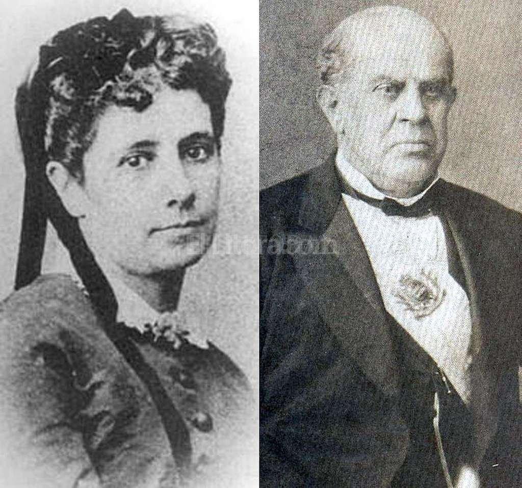 La de Domingo Faustino Sarmiento y Aurelia Vélez Sarsfield fue una borrascosa historia de amor que tuvo como protagonistas al presidente de la Nación y a la hija del autor del Código Civil.  Crédito: Archivo El Litoral