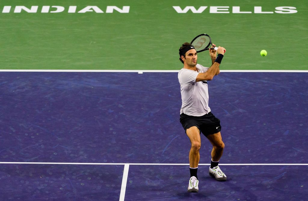 Federer avanza firme en Indian Wells. Crédito: Internet
