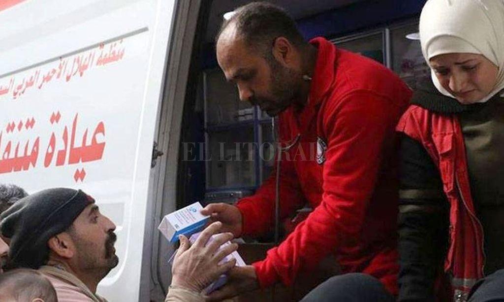 La ayuda humanitaria busca aliviar a más de 25.000 personas en Guta Oriental. Crédito: Internet