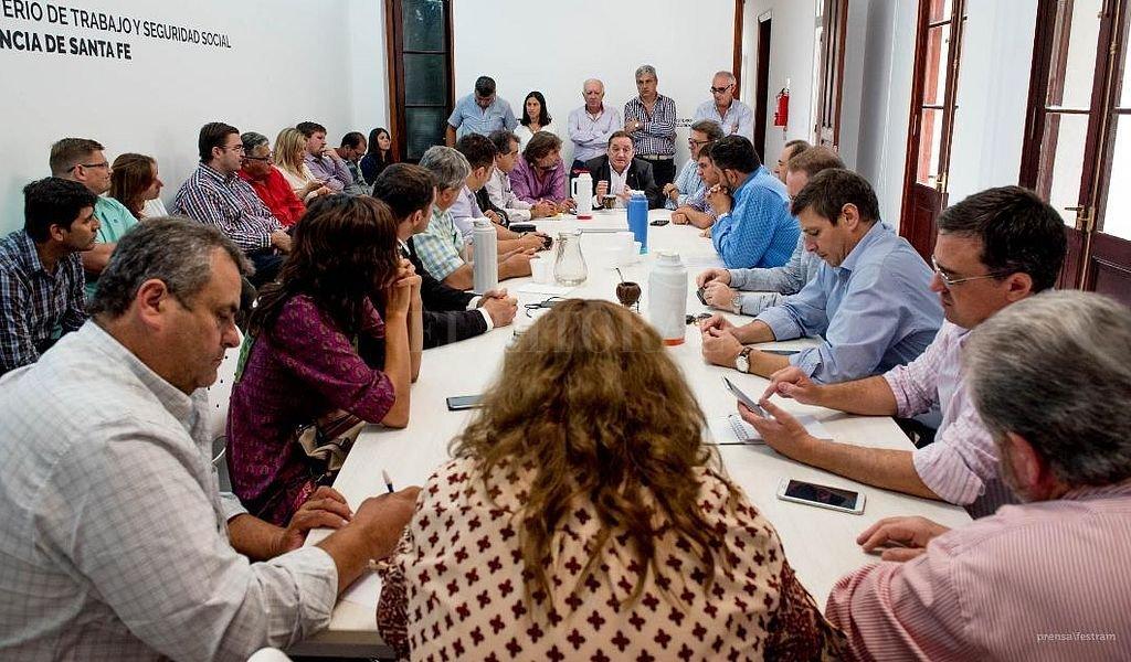 Encuentro de conciliación obligatoria realizado este martes. Crédito: Prensa Festram