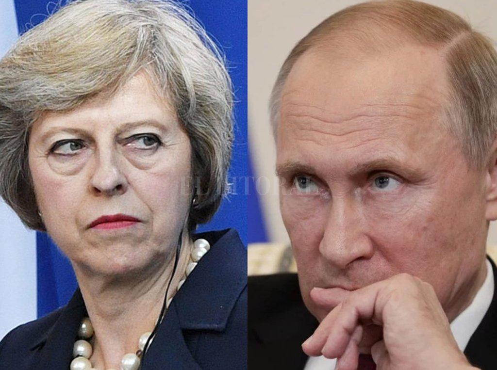 Vladimir Putin (Rusia) y Theresa May (Gran Bretaña). Crédito: Internet