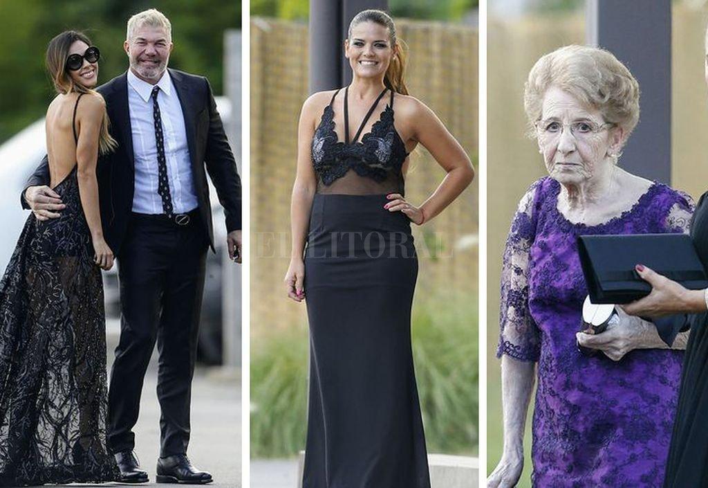 Los principales looks del casamiento de Dalma Maradona en la noche del domingo. Crédito: Clarín, Ciudad Magazine, Infobae.