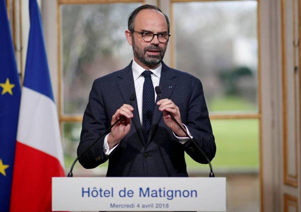 El primer ministro francés, Edouard Philippe, durante una rueda de prensa, este miércoles. Crédito: El País
