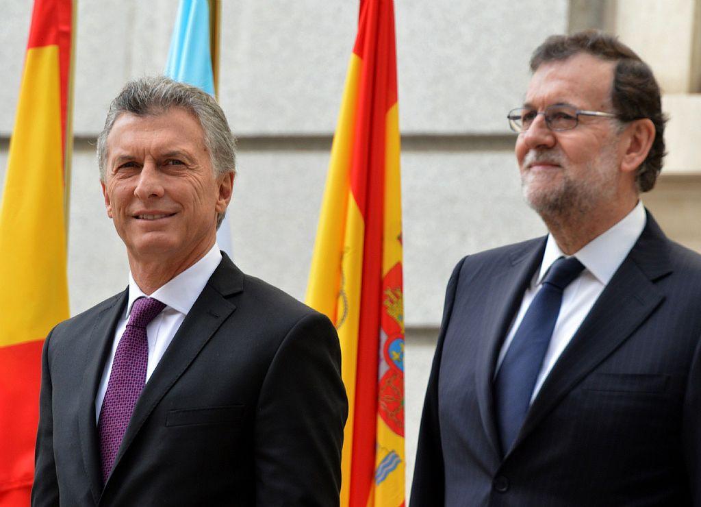 Rajoy elogió a Mauricio Macri por sus