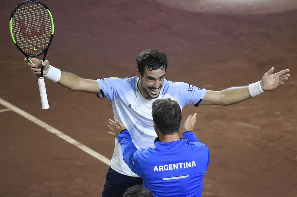 Argentina venció a Chile por 3-2 en la Copa Davis Crédito:  AP - Gustavo Garello