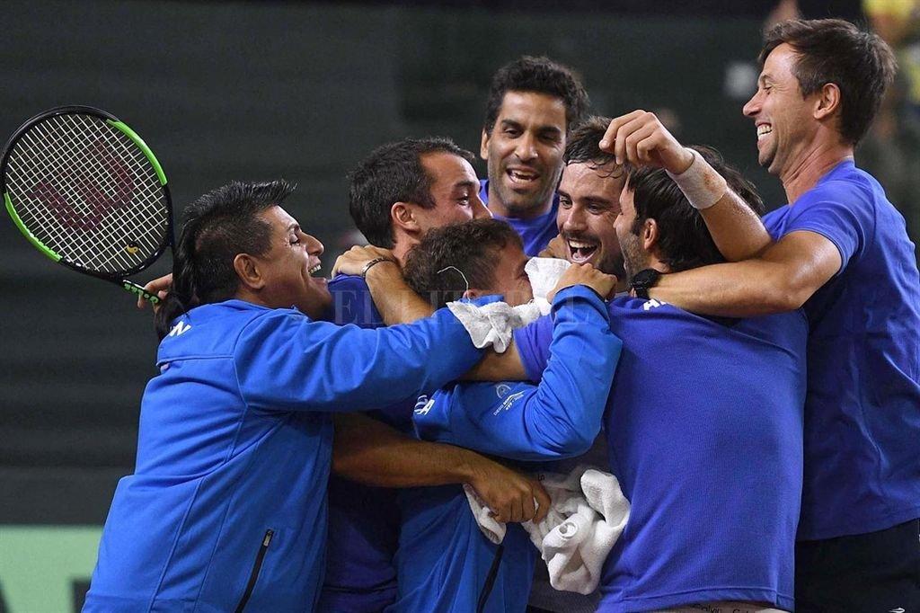 Argentina venció a Chile por 3-2 en la Copa Davis Crédito: Télam