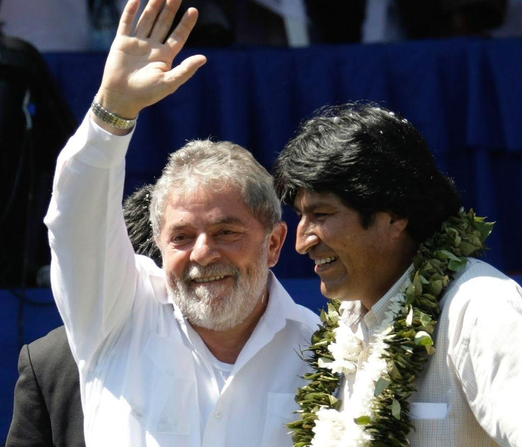 Lula Da Silva y Evo Morales firmaron acuerdos de cooperación entre sus países cuando Lula era presidente. Crédito: Internet
