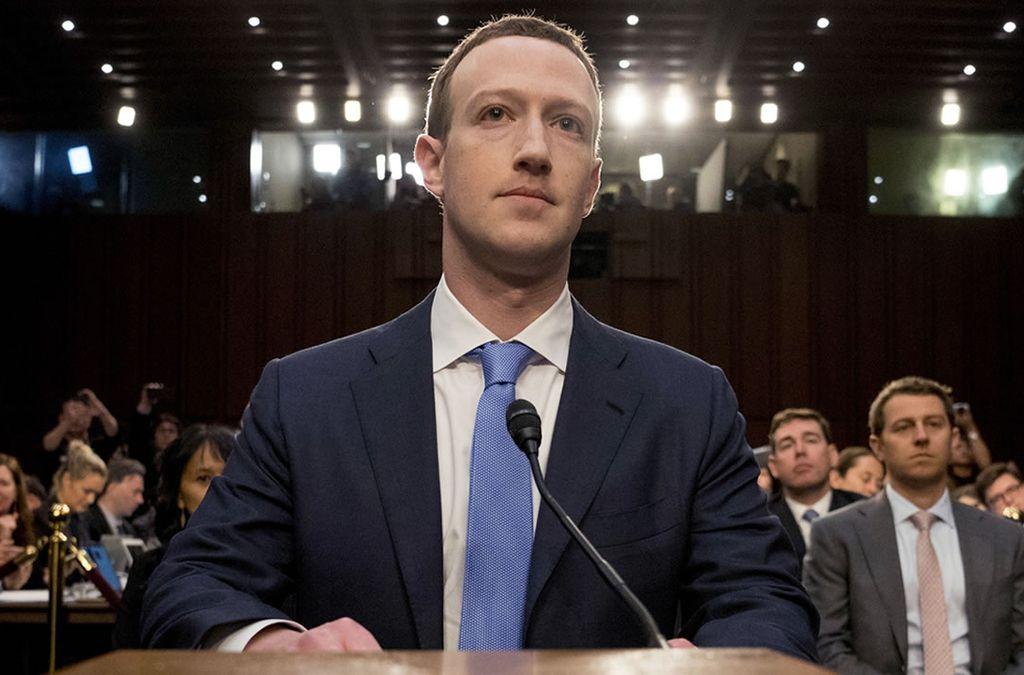 Mark Zuckerberg en el Congreso de los Estados Unidos. Crédito: Internet