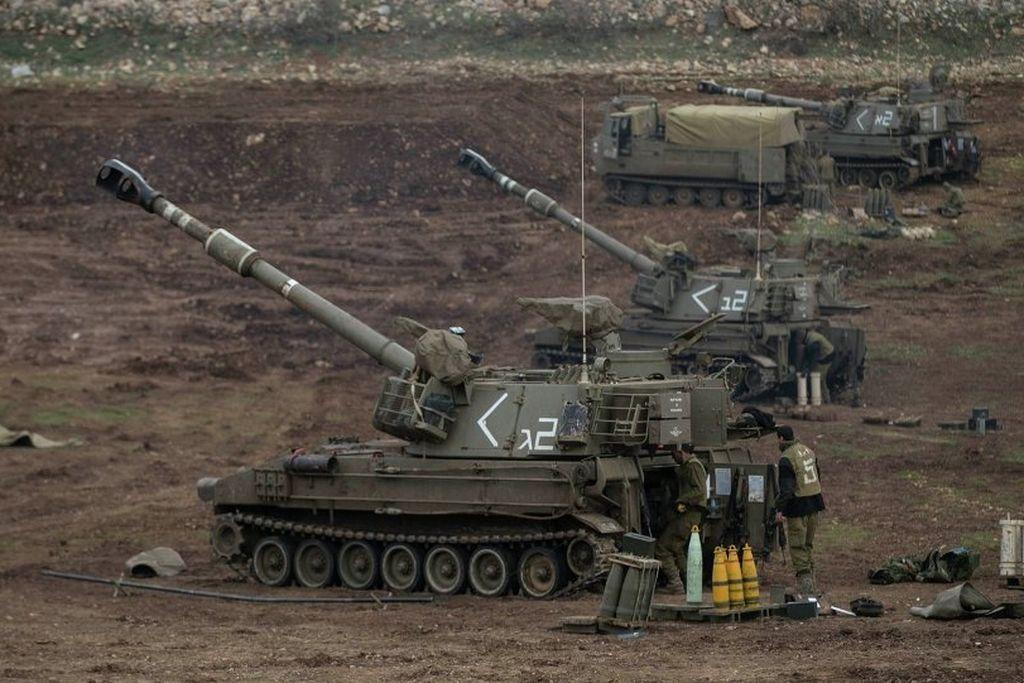 Artillería del Ejército israelí en la Franja de Gaza. Crédito: Internet