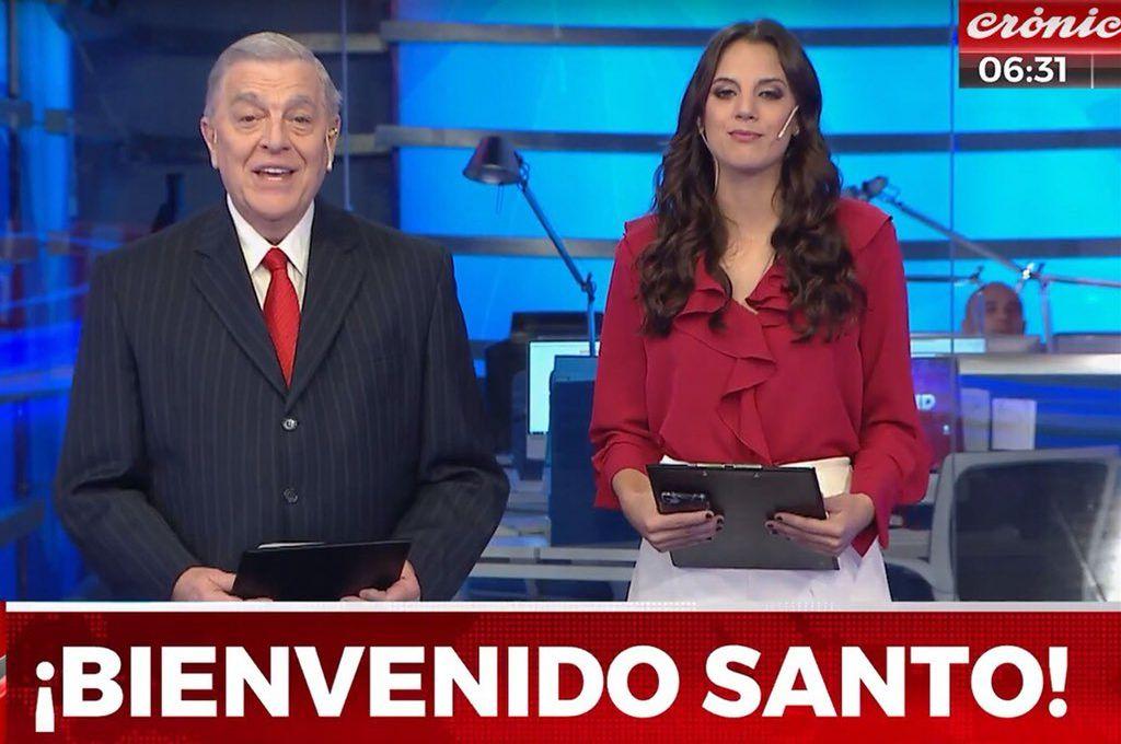 El debut de Santo Biasatti por Crónica HD