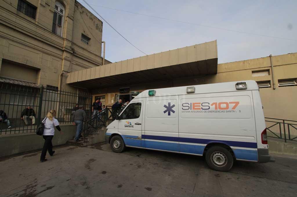 Ambos hombres heridos fueron atendidos en el hospital Cullen Crédito: Archivo El Litoral