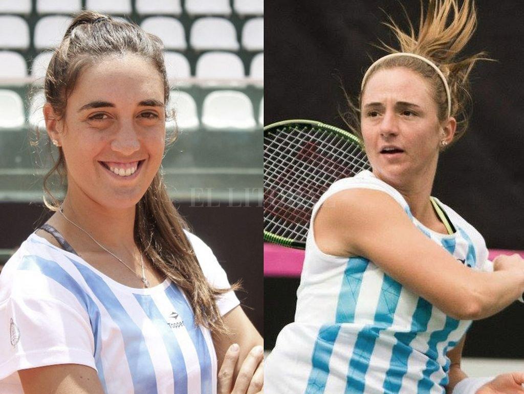 Catalina Pella (25 años) y Nadia Podoroska (21 años). <strong>Foto:</strong> Archivo