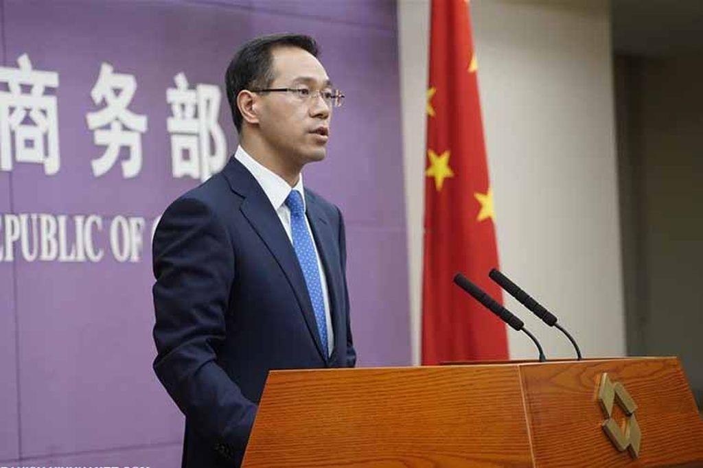 El portavoz del Ministerio de Comercio chino, Gao Feng. <strong>Foto:</strong> Internet
